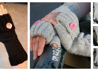 Commuter Fingerless Mittens Free Knitting Pattern