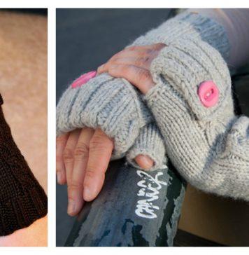 Commuter Fingerless Mittens Free Knitting Pattern