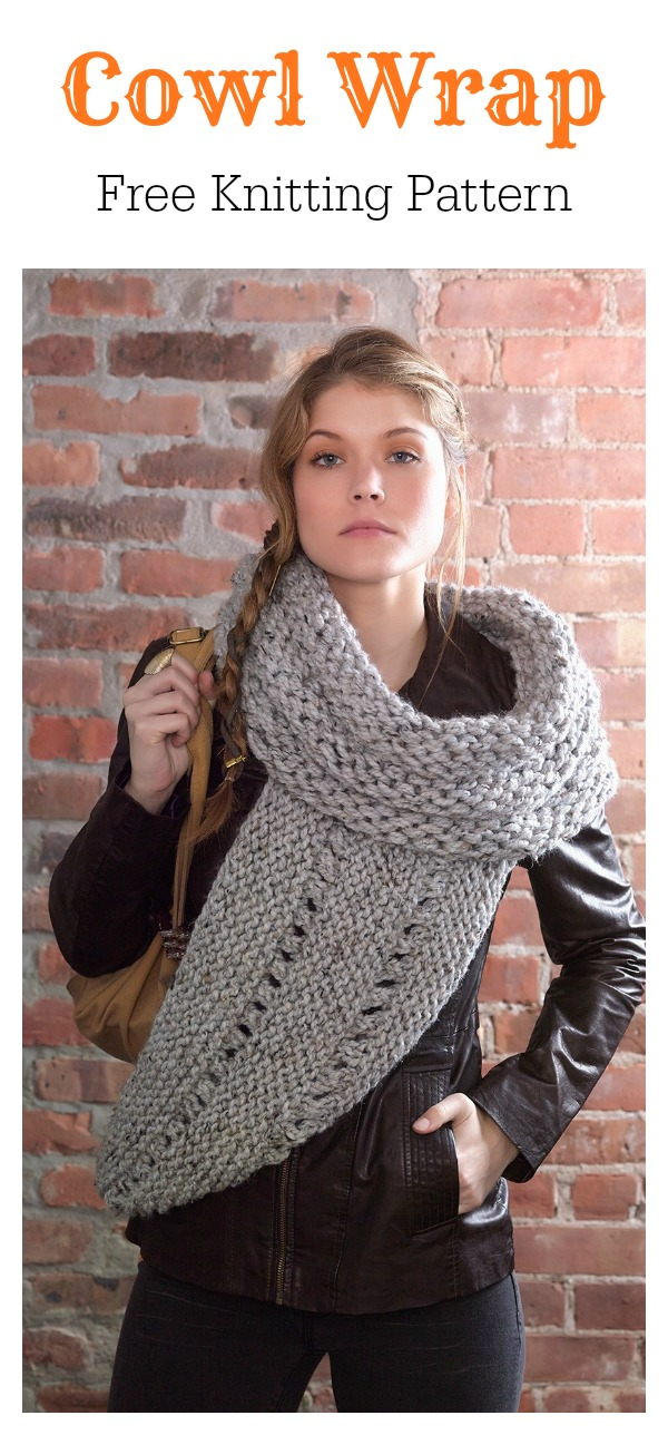 Cowl Wrap Free Knitting Pattern