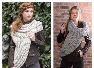 Cozy Cowl Vest Free Knitting Pattern