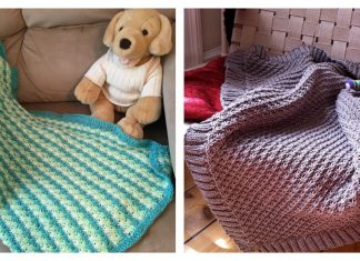 Daisy Stitch Baby Blanket Free Knitting Pattern