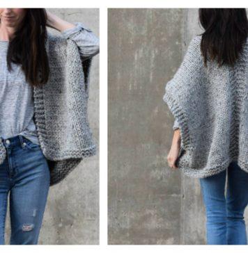 Easy Telluride Kimono Free Knitting Pattern