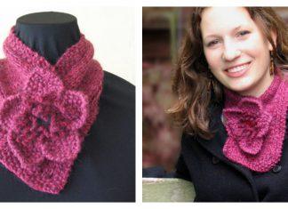 Flora Neck Warmer Scarf Free Knitting Pattern