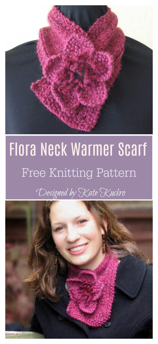 Flora Neck Warmer Scarf Free Knitting Pattern