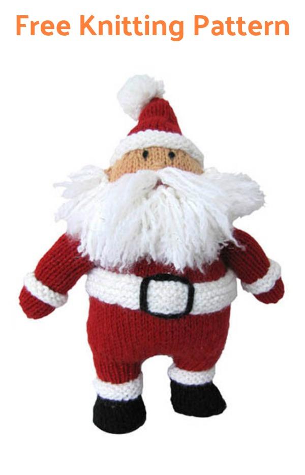 Hearty Holiday Santa Free Knitting Pattern