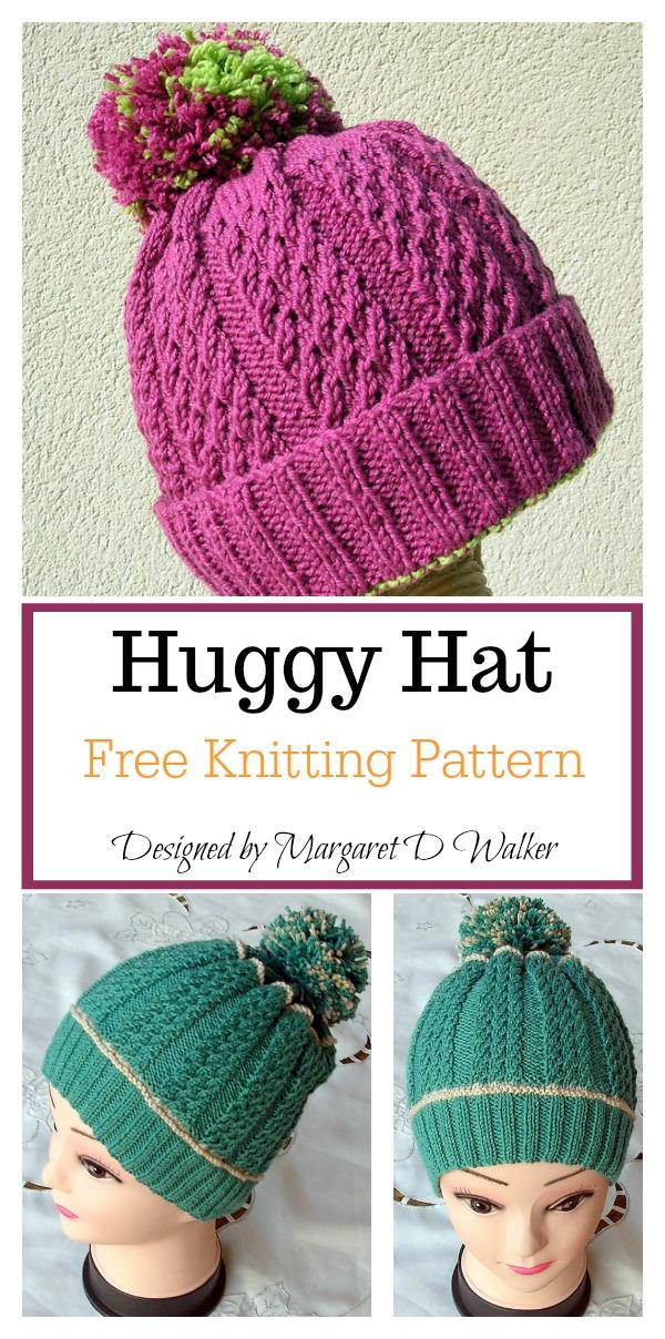 Huggy Hat Free Knitting Pattern