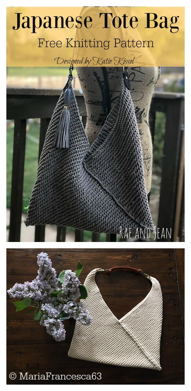 Japanese Tote Bag Free Knitting Pattern