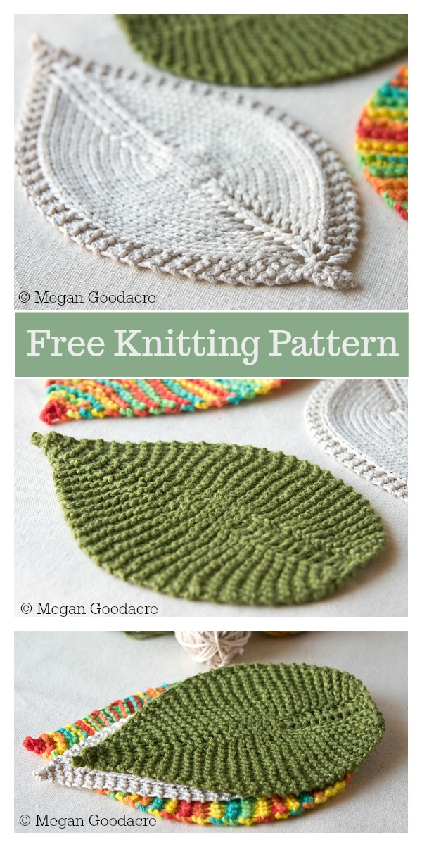 Leafy Washcloth Free Knitting Pattern