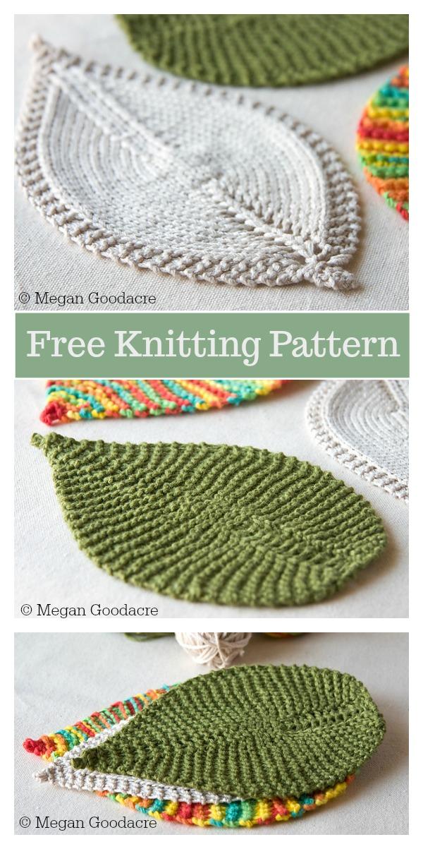 Leafy Washcloth Free Knitting Pattern