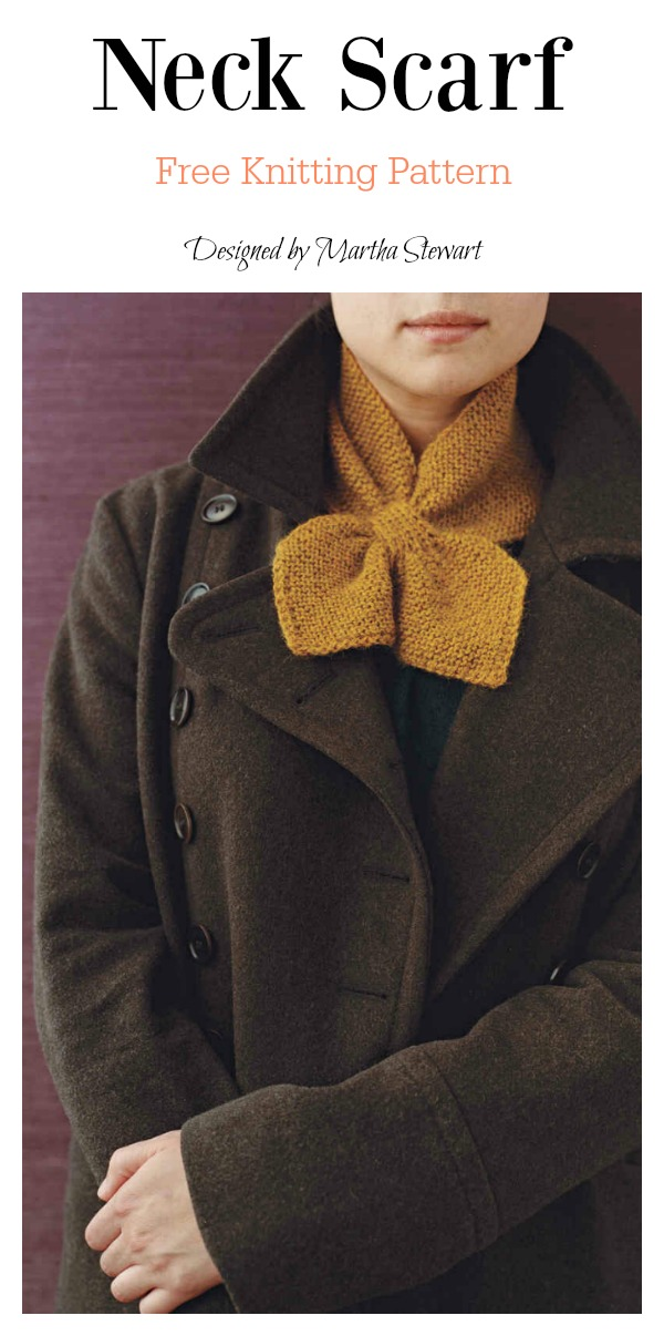 Neck Scarf Free Knitting Pattern