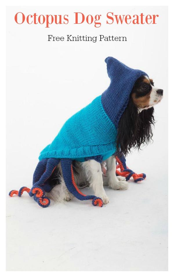 Octopus Dog Sweater Free Knitting Pattern