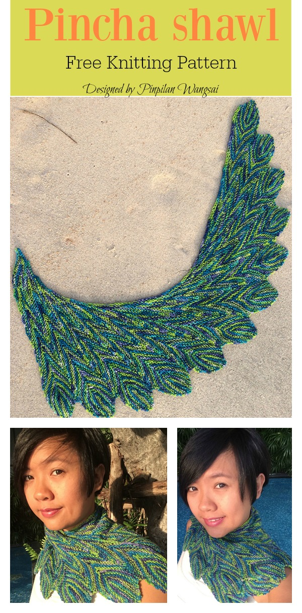 Pincha shawl Free Knitting Pattern