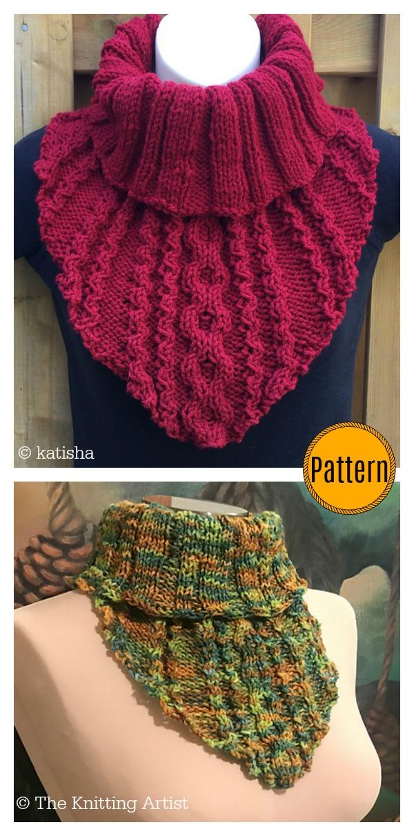 Rain Tears Cowl Knitting Pattern