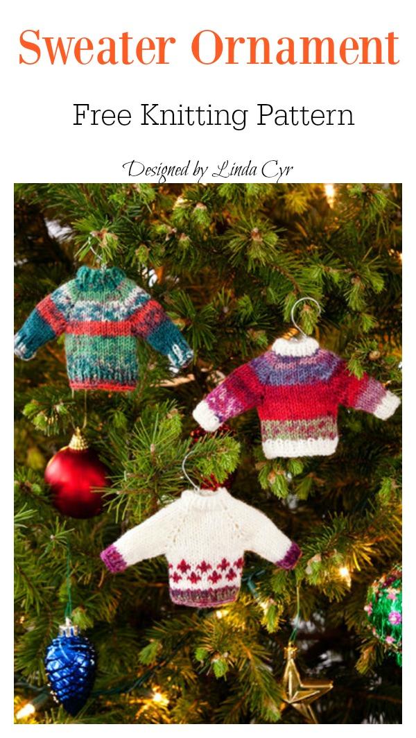 Sweater Ornament Free Knitting Pattern