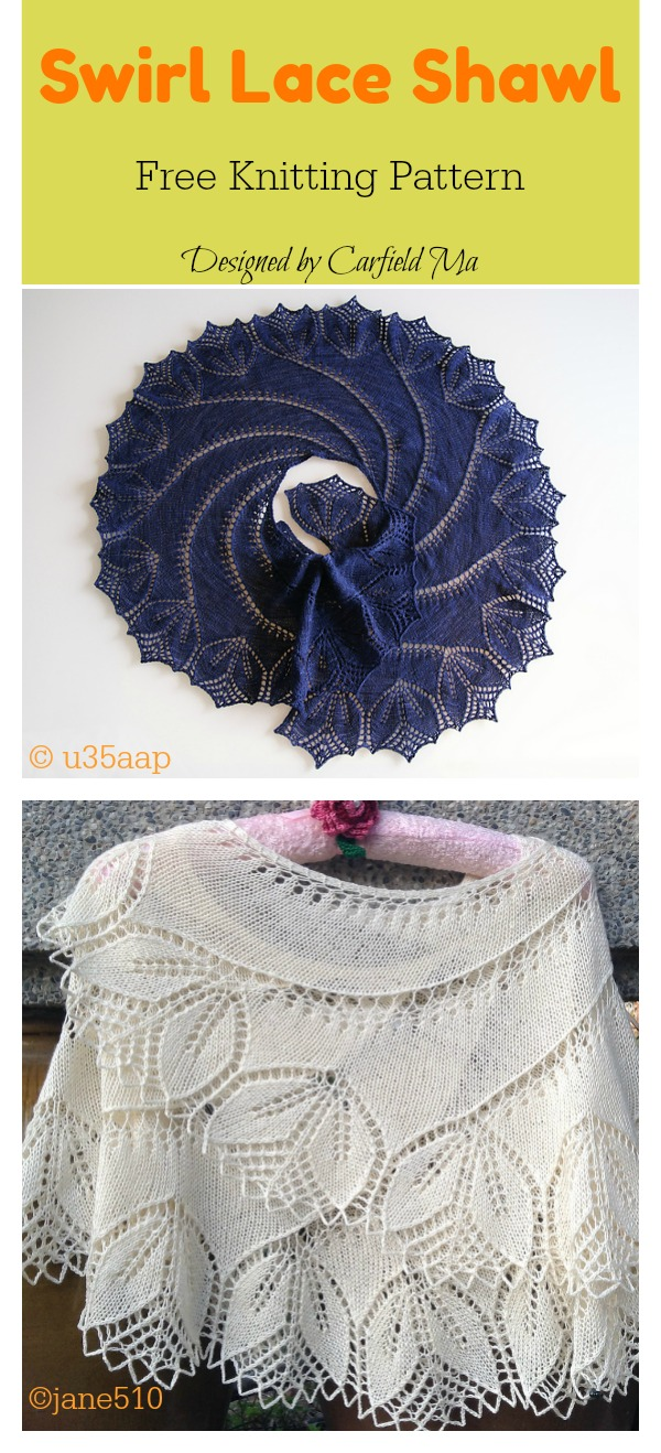 Swirl Lace Shawl Free Knitting Pattern