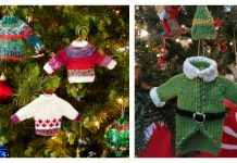 Tiny Sweater Ornament Free Knitting Pattern