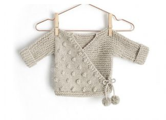 Toddler Kimono Sweater Free Knitting Pattern