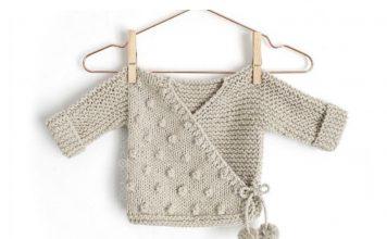 Toddler Kimono Sweater Free Knitting Pattern