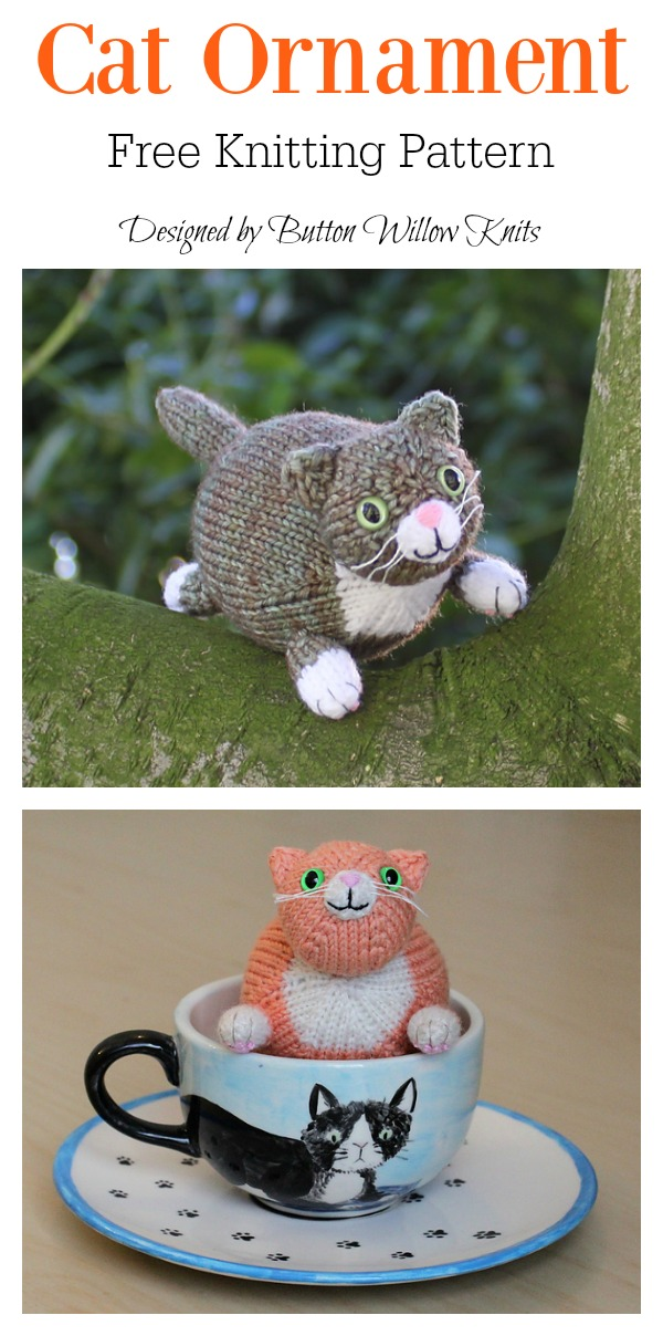 Wub Chub Cat Ornament Free Knitting Pattern