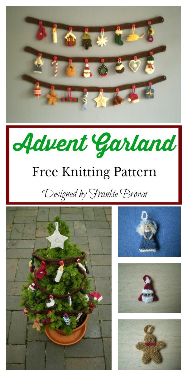 Advent Garland Free Knitting Pattern