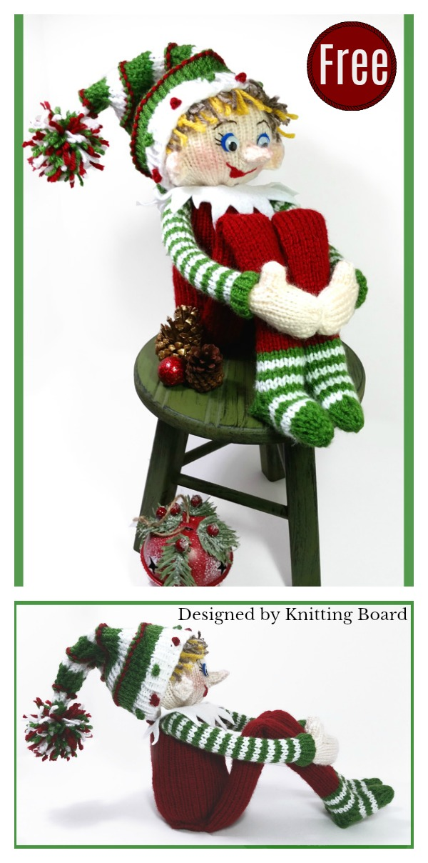 Amigurumi Elf Free Loom Knitting Pattern