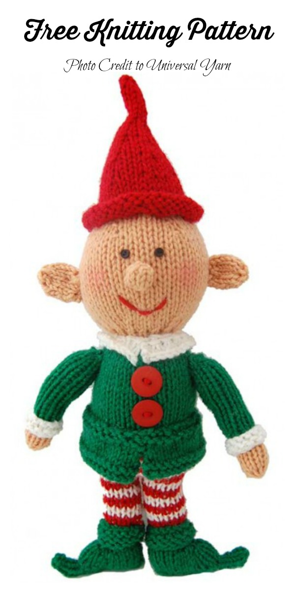 Amigurumi Happy Little Elf Free Knitting Pattern