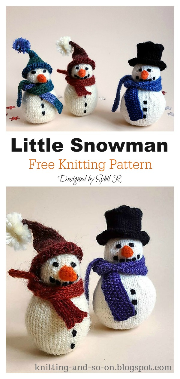 Amigurumi Little Snowman Free Knitting Pattern