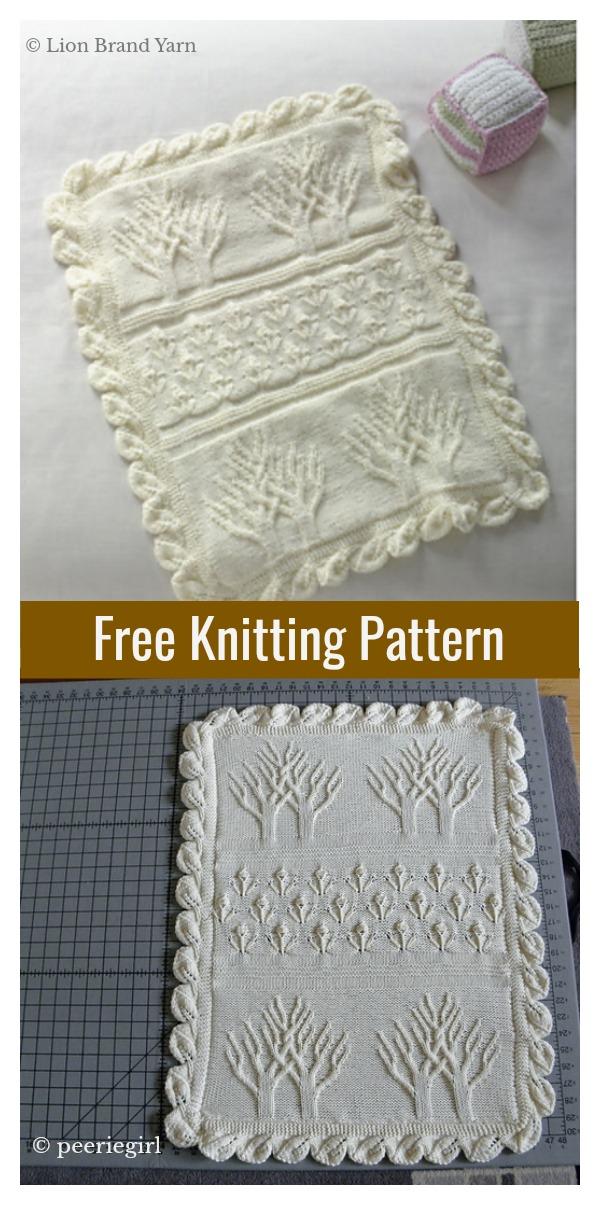 Baby Tree of Life Throw Free Knitting Pattern