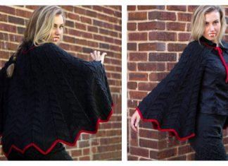 Bat Cape Free Knitting Pattern