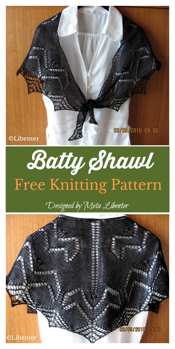 Bat Shawl Free Knitting Pattern