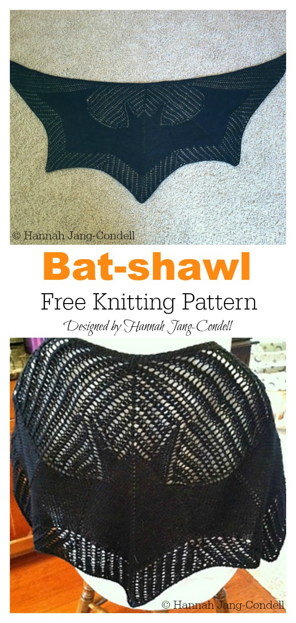 Bat Shawl Free Crochet Pattern