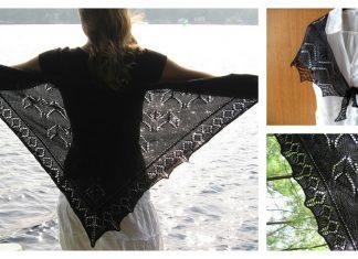 Bat Shawl Free Knitting Pattern
