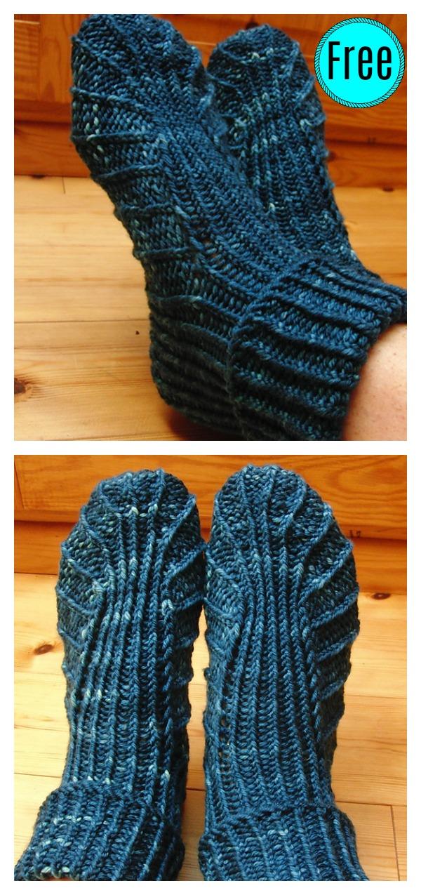 Bea's Slipper Boots Free Knitting Pattern