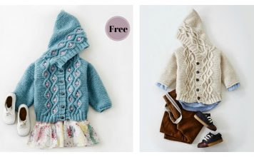 Cabled Baby Cardigan Sweater Free Knitting Pattern