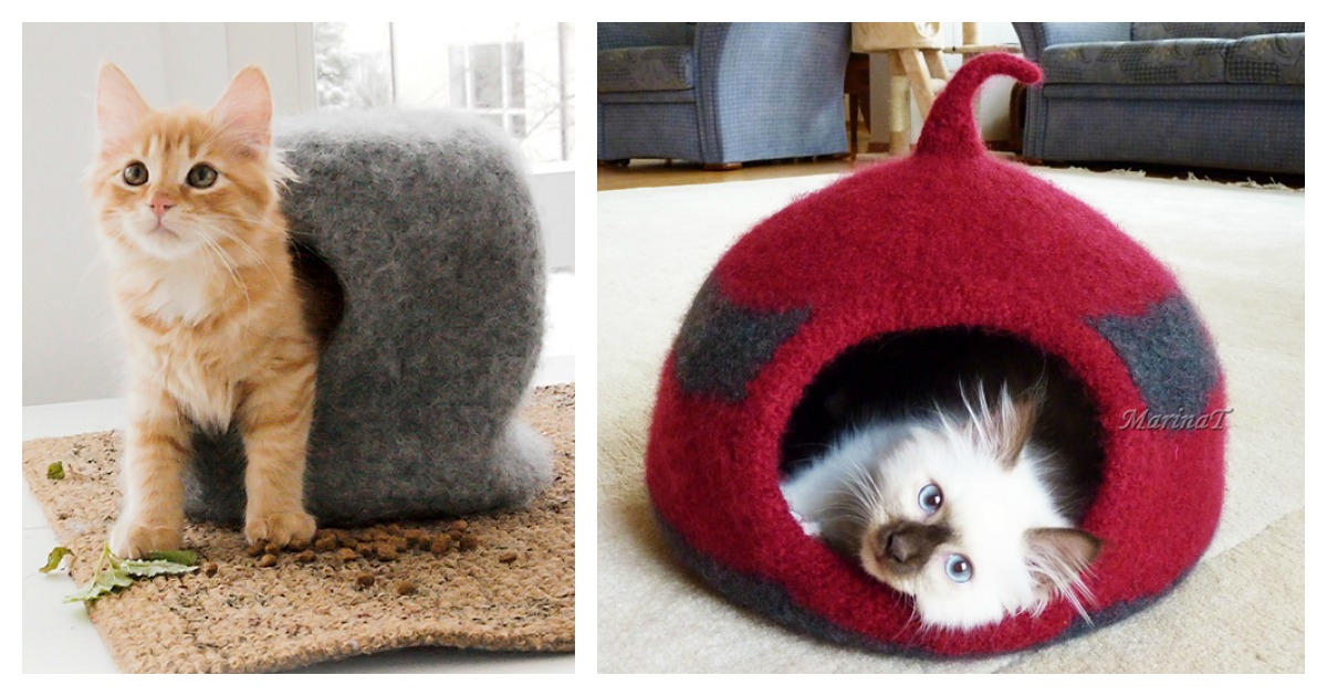 Ravelry: Fairy house/ Cat Cocoon / Basket pattern by Hanneke van Dijk | 630x1200