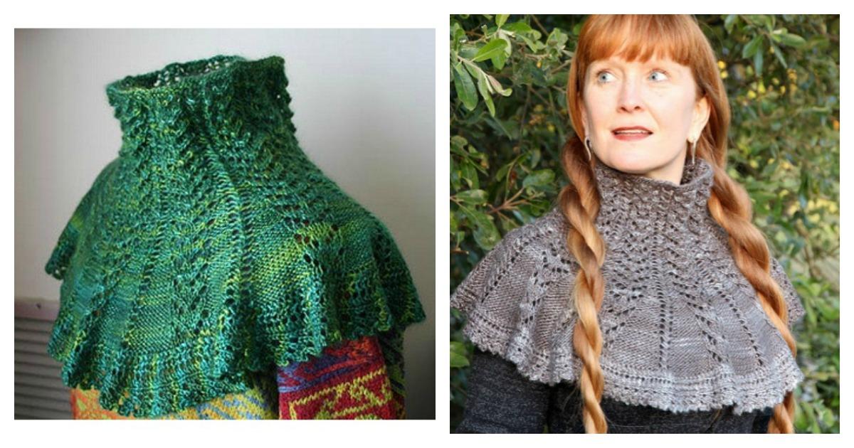 Victorian Neck Warmer Free Knitting Pattern