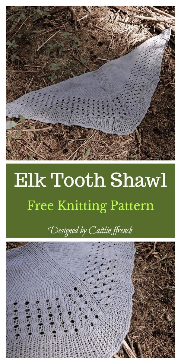 Elk Tooth Shawl Free Knitting Pattern