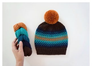 Fair Isle Beanie Free Knitting Pattern