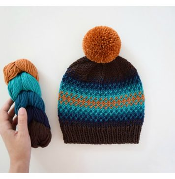 Fair Isle Beanie Free Knitting Pattern