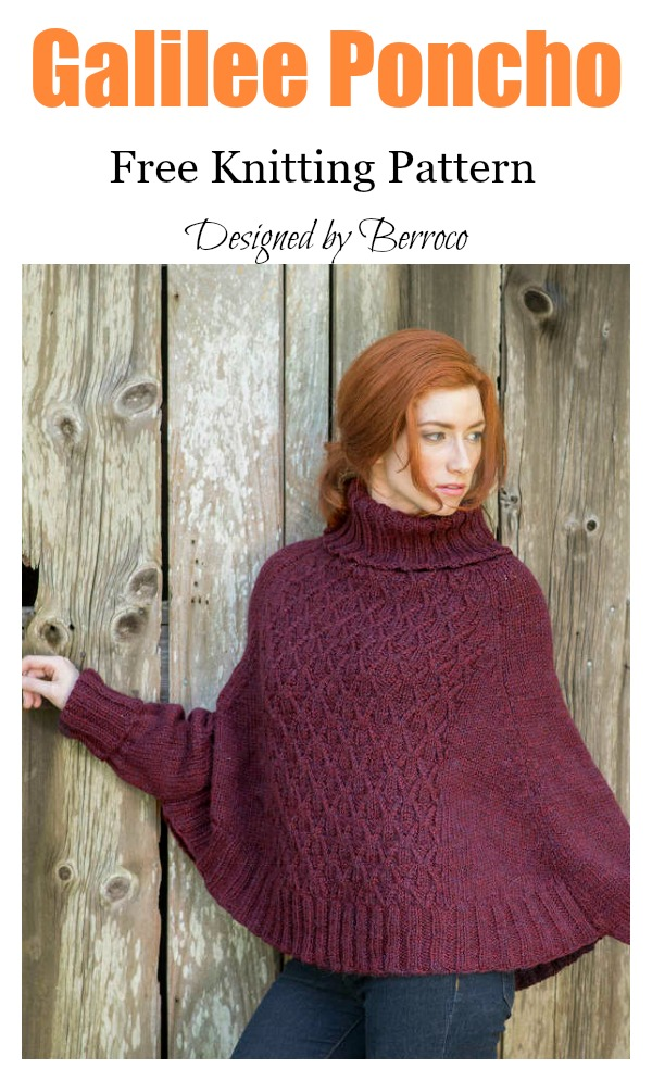 Galilee Poncho Free Knitting Pattern