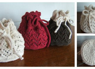 Holiday Gift Bag Free Knitting Pattern