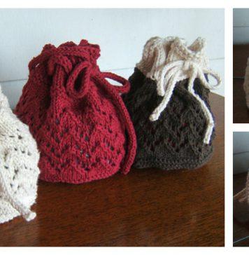 Holiday Gift Bag Free Knitting Pattern