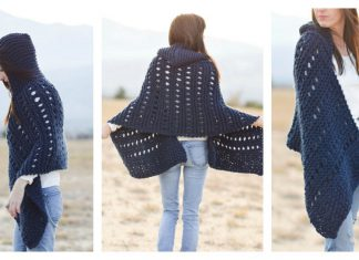 Hooded Wrap Free Knitting Pattern