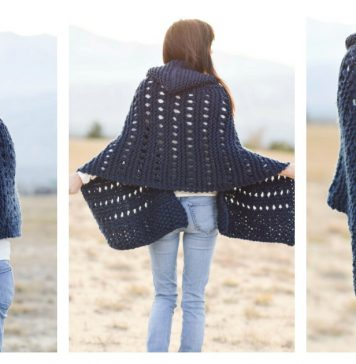 Hooded Wrap Free Knitting Pattern