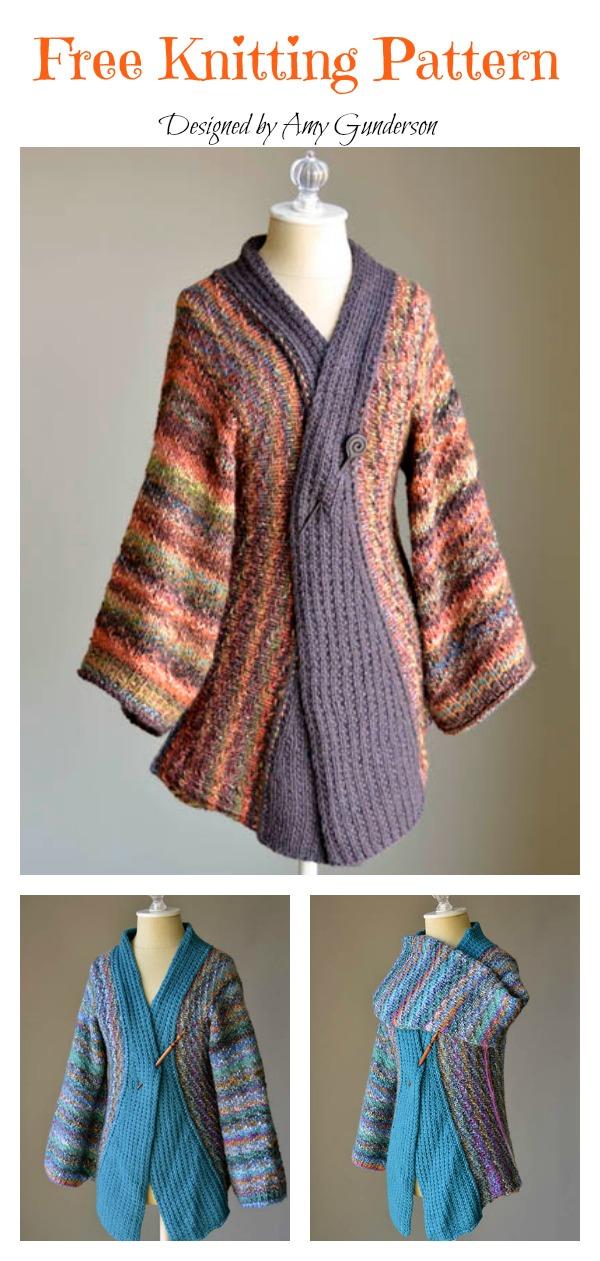 Kimono Cardigan Free Knitting Pattern