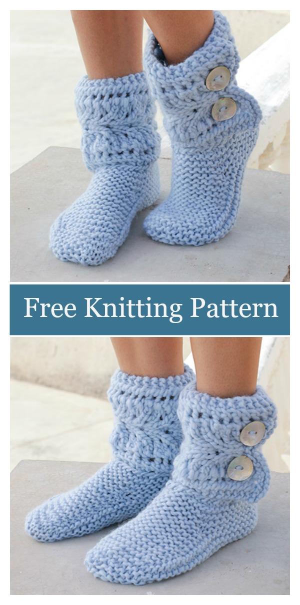 Lace Boots Free Knitting Pattern