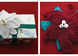 Poinsettia Gift Topper Free Knitting Pattern