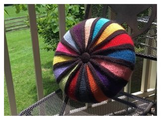 Round Cushion Free Knitting Pattern