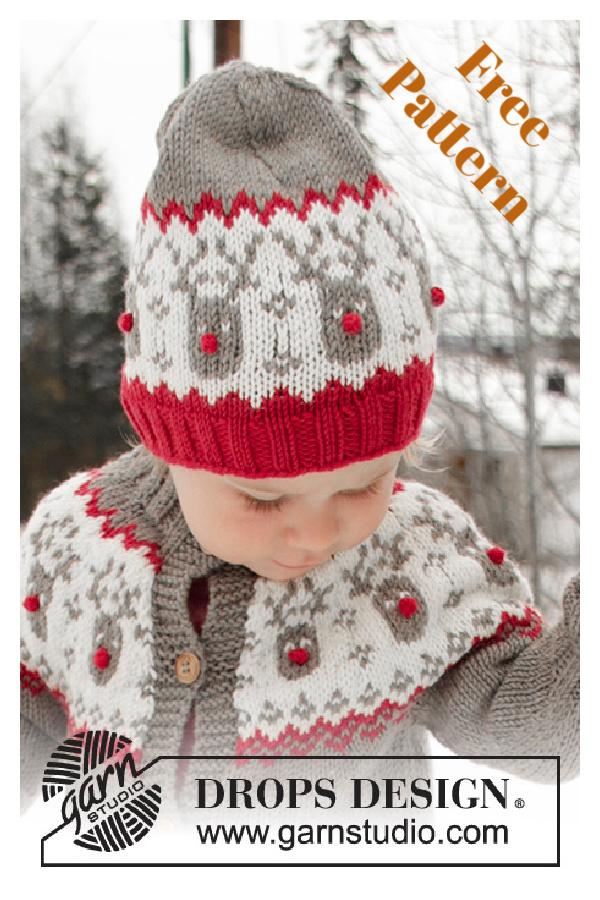 Rudolph Hat Free Knitting Pattern