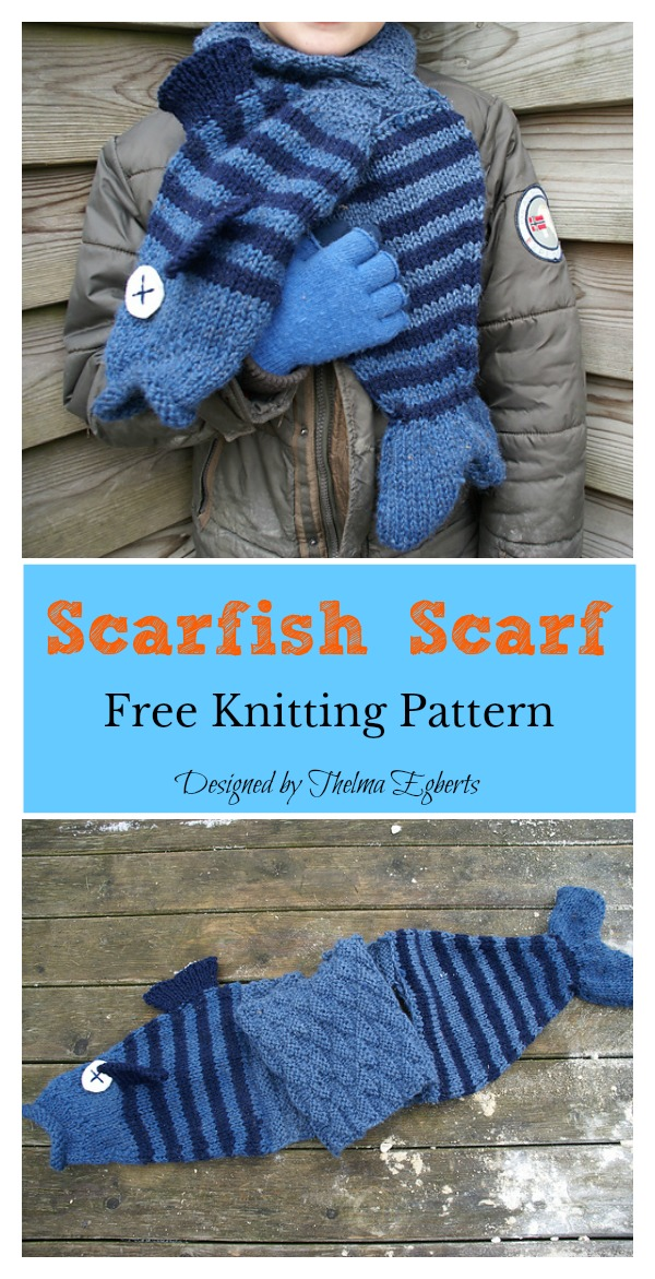 Scarfish Scarf Free Knitting Pattern